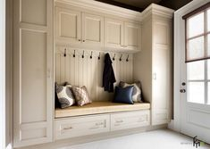 44 Adorable Little Mudroom Entryway Storage Design Ideas - entryway ideas Mudroom Cabinets, Mudroom Laundry Room, Storage Cabinets, Entryway Storage Cabinet, Tall Cabinets, Bench Mudroom, Kitchen Cabinets, Storage Units, Kitchen Doors