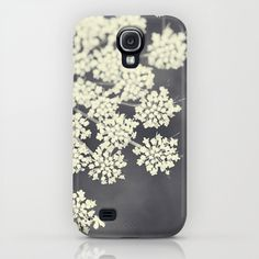 Black and White Queen Anne's Lace Samsung Galaxy S4 case $35