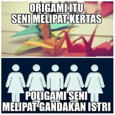 Perbedaan Origami dan Poligami #GambarLucu