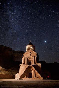 Armenian Church and Milky Way (one of Suren Manvelyan's photos in his Night Armenian Spirit series)