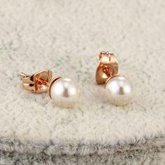 Fashion Femmes Faux Perle Cristal Long Dangle Drop Stud Boucle D/'oreille Charme G