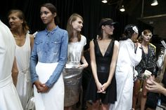 waiting backstage at #DKNY #Spring2013
