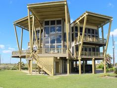 Sandhill Shores Vacation Rental - VRBO 591581 - 3 BR Galveston House in TX, Luxury Oceanfront, Architectural Masterpiece, Must See