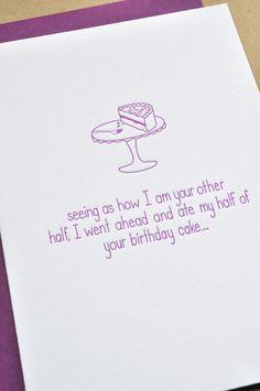 Spouse BDay Card - I think that's a good enough reason  . . .
