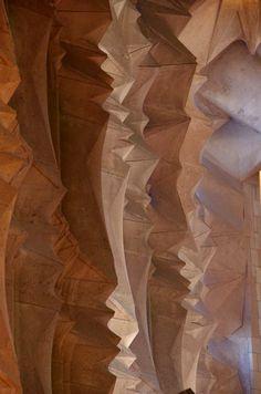 textural wall in the sagrada familia