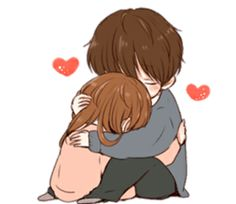 It's love by toco sticker Cute Chibi Couple, Love Cartoon Couple, Cartoon Girl Images, Cute Couple Art, Anime Love Couple, Cute Love Stories, Cute Love Gif, Cute Love Pictures, Cute Love Wallpapers