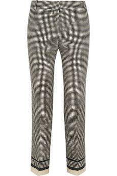 Lanvin Printed cotton-blend skinny pants | NET-A-PORTER
