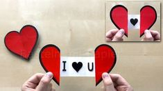 How to make an easy paper Heart with a Message using Origami paper ❤ DIY Greeting Cards Origami Heart, Origami Butterfly, Origami Flowers, Easy Paper Crafts, Diy Paper, Diy Kawaii, Origami Simple, Papier Diy, Diy Y Manualidades