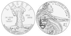 2016 National Park Service Silver Dollar