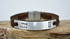 Men's Bracelet Leather Men Bracelet Personalized by PukkaMen