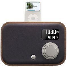Wooden iPod/iPhone Radio Alarm Clock on AHAlife