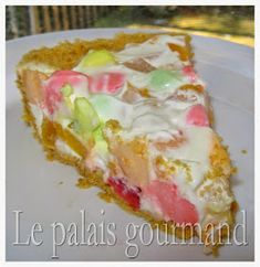 Le palais gourmand: Tarte délice aux fruits Cold Meals, Hawaiian Pizza, Fudge, Graham, Biscuits, Cheesecake, Pudding, Favorite Recipes, Cold Food