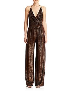 Kempner Sienna Metallic Knit Jumpsuit