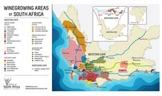 Wine areas of South Africa.