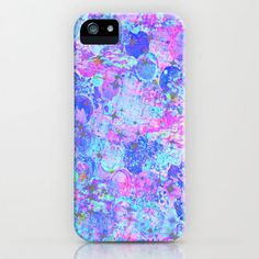 TIME FOR BUBBLY Again iPhone 4 4s 5 5c 6 Case Samung Galaxy Hard Plastic Cover, Girly Pastel Turquoise Blue Pink Purple Abstract Painting