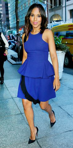 Look of the Day - September 23, 2014 - Kerry Washington in Prabal Gurung from #InStyle