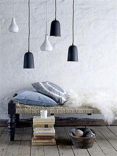 Via hviit: Mooie lampen