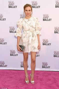 Diane Kruger puts on a leggy display in flirty mini dress at the NYC Ballet Fall Fashion Gala | Daily Mail Online