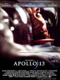 Apollo 13 is a 1995 American historical docudrama film directed by Ron Howard. The film stars Tom Hanks, Kevin Bacon, Bill Paxton, Gary Sinise, and Ed Harris. Space Movies, Sci Fi Movies, Top Movies, Movies To Watch, Beau Film, Tom Hanks, See Movie, Movie Tv, Movies Showing