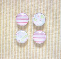 Flowers Watercolor Glass Magnets // Kitchen Magnet, Office Deco, Flower Magnet, Fridge Magnet, 1'' Magnet, Set of Four Magnets, Glass Magnet de la boutique SomniumBoutique sur Etsy