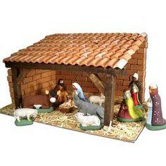 Le santon créatif - Aubagne - Provence Etable Brignoles Christmas Crib Ideas, Christmas Items, Christmas Diy, Christmas Decorations, How To Make S, Nativity Stable, Diy Bird Feeder, Vinyl Decals, Cribs