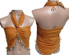 #Multi purpose orange scarf // Sequined #by specialhandmades4you, $19.00