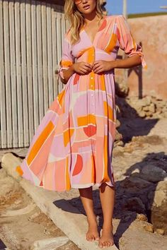 Single Breasted Print A-line Material Polyester Neckline V-neck Style Pattern Type Paisley, Print Length Type Mid-calf Length on size M) Silhouette A-line Sleeve Short Sleeves Sleeve Length on size M) Season Spring, Summer, Fall, Winter Decoration Buttons Tie Dress, V Neck Dress, Boho Dress, Wrap Dress, Annabelle Dress, Mid Length Skirts, Pleated Maxi, Picture Sizes, High Collar