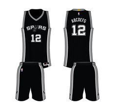 San Antonio Spurs Road Uniform 2015- Present