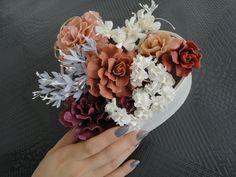 秋色の薔薇とネイル