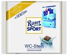 Ritter Sport - WC Stein Fundstück