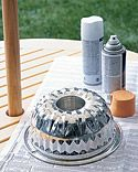 So smart. Use a bundt cake pan for a centerpiece holder for a patio table with an umbrella - Martha Stewart Crafts