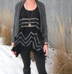 How to style and open front cardigan! www.audreysalutes.com