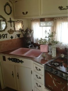 The Vintage Housewife: Vagabond Gypsy trailer before & after!