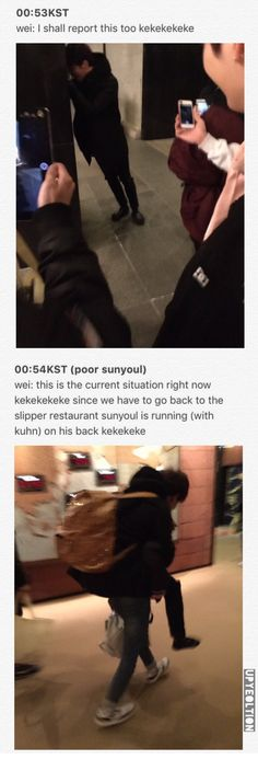 170309 UP10TION KUHN Losing his shoes in a meat restaurant in japan  PART 2   © engtrans : upyeoltion #쿤 #Wei #웨이  #Sunyoul #선율 #업텐션