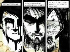 Cool idea for ms/ hs comic book illustration.  Comic book +lyrics+ youtube.  The Mariner's Revenge Song Animated Comics