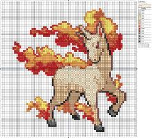 78 - Rapidash II by Makibird-Stitching - the link this pin goes to is full of great patterns!
