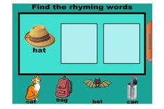 Teach your students all about rhyming words in this fun self-correcting IWB lesson.