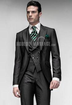 excellent jaquette de mari pas cher satin bouton unique robe208868 robedumariage - Costume Jaquette Mariage