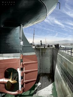 """ocean-liners: """"Colorized photo of Olympic's stern """""""