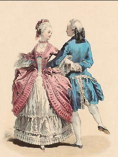 Gravures anciennes | Mode | Modes Parisiennes, Regne De Louis XV, Daapres A. De St Aubin, 1763