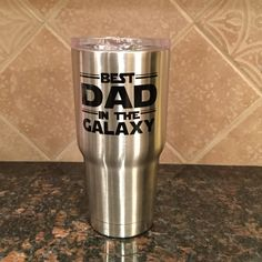 "Who doesn't love Star Wars? Don't miss out on this great gift for Father's Day!!  Best dad in the galaxy ""Yeti-like"" cup. Great deal...keeps drinks cold for several hours."