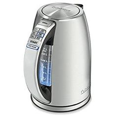 Amazon.com: Cuisinart CPK-17 PerfecTemp 1.7-Liter Stainless Steel Cordless Electric Kettle: Kitchen & Dining