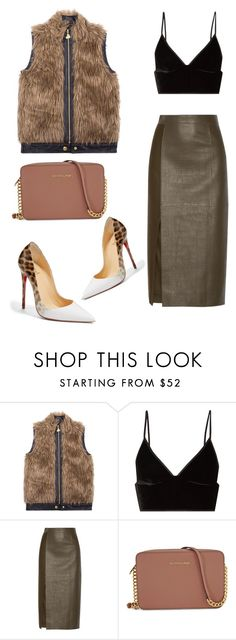 """""""Untitled #556"""" by collettesworldoffashion ❤ liked on Polyvore featuring Betsey Johnson, T By Alexander Wang, Jason Wu, Michael Kors and Christian Louboutin"""