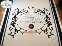 This wedding aisle runner is all about romance and glamour! #romanticaislerunners, #glamourousweddingrunners
