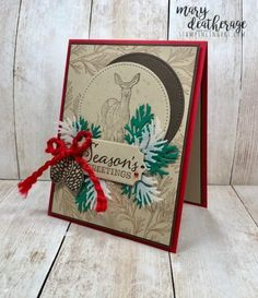 Christmas Card Crafts, Homemade Christmas Cards, Stampin Up Christmas, Homemade Cards, Handmade Christmas, Christmas Deer, Fall Cards, Xmas Cards, Stamping Up Cards