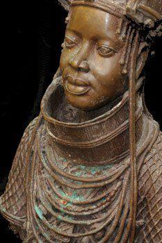 Oba (King) in Benin regalia