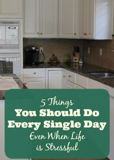 If you're in a season of life where you are feeling overwhelmed or if you would just love to find a way to have a little more order and structure in your life, I encourage you to develop the habit of doing these five things every single day.  They might seem so simple — and they are! — but if you're not doing these on a daily basis, commit to making them non-negotiables for 3-4 weeks and see if it makes a difference for you. Click through for the list of suggestions...