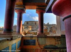 Reconstructed Palace of Knossos in Crete, Greece