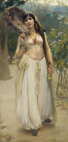 Frederick Arthur Bridgman (1847-1928), Soir (Summer Evening), Oil on Canvas, Circa 1900. #FrederickArthurBridgman