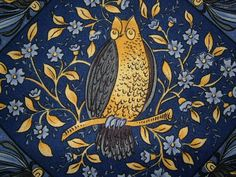 Craft Fabrics: One Stop Fabric Shop Textiles, Textile Patterns, Print Patterns, Bird Patterns, William Morris Art, Owl Art, Medieval Art, Arts And Crafts Movement, Novelty Print